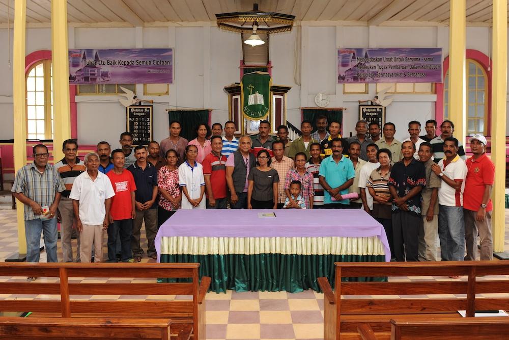 Panitia Gereja baru Kaibobo okt.2014